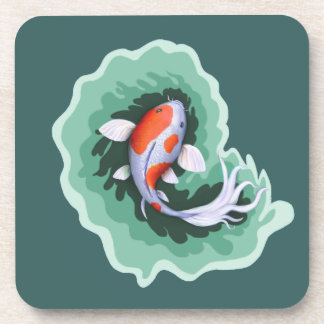 Spotted Whimsical Koi Fish Drink Coaster