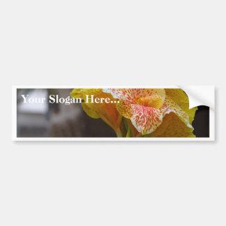 Spotted Yellow Flower Bumper Sticker