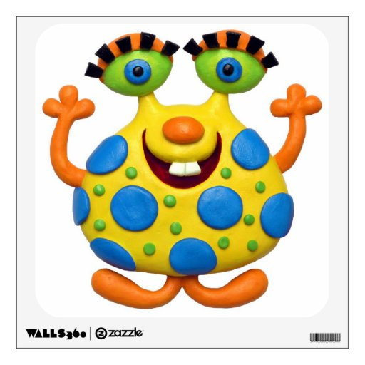 Spotted Yellow Monster Baby Boy Shower Nursery Wall Decal