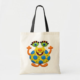 Spotted Yellow Monster Budget Tote Bag
