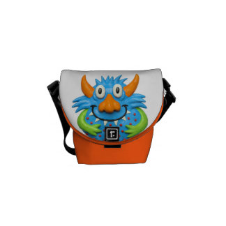 Spotted Yellow Monster Courier Bag