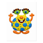 Spotted Yellow Monster Postcard