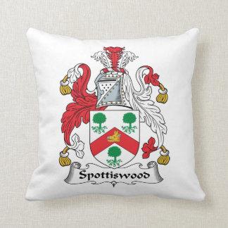Spottiswood Family Crest Throw Pillow