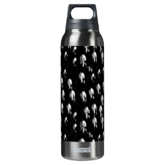 Spotty blk insulated water bottle