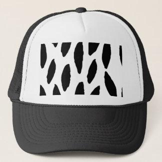 Spotty Brush Stroke Drops Pattern Trucker Hat