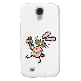Spotty Bunny with Ice Cream Galaxy S4 Cover