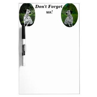 Spotty Dalmatian Dog Art Dry Erase Board