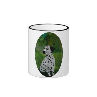 Spotty Dalmatian Dog Art Ringer Mug