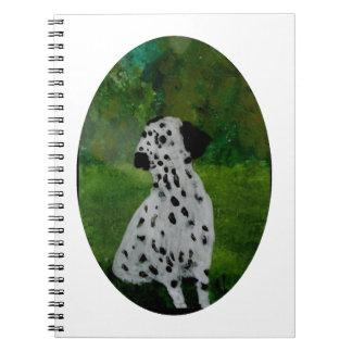 Spotty Dalmatian Dog Art Spiral Notebook
