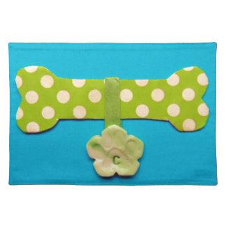 Spotty Dog Bone c.jpg Cloth Placemat