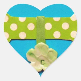 Spotty Dog Bone c.jpg Heart Sticker