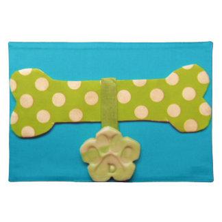 Spotty Dog Bone d.jpg Cloth Placemat