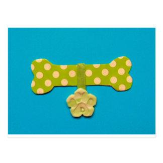Spotty Dog Bone d.jpg Postcard