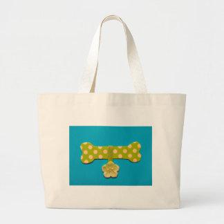 Spotty Dog Bone - f.jpg Large Tote Bag