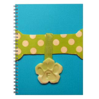 Spotty Dog Bone - f.jpg Notebook
