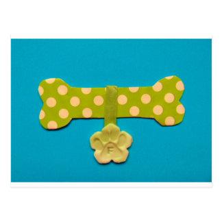 Spotty Dog Bone - f.jpg Postcard