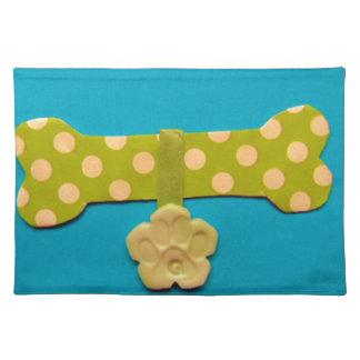 Spotty Dog Bone - g.jpg Cloth Placemat