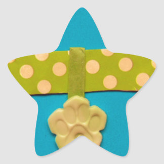 Spotty Dog Bone - g.jpg Star Sticker