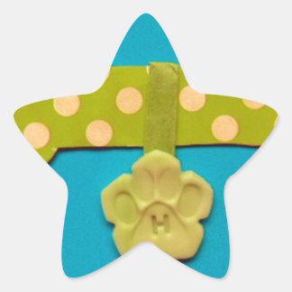 Spotty Dog Bone - h.jpg Star Sticker