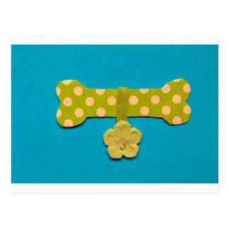 Spotty Dog bone - j.jpg Postcard
