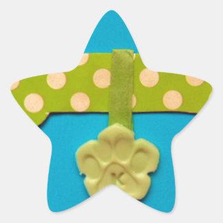 Spotty Dog Bone -k.jpg Star Sticker