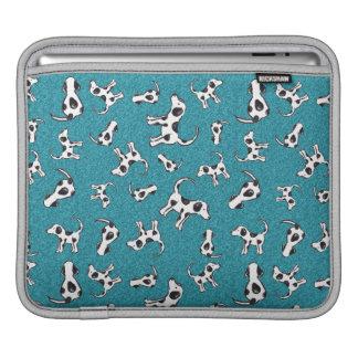 Spotty Dog Pattern on Blue iPad Sleeve