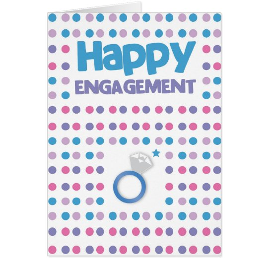Spotty Happy Engagement greeting card