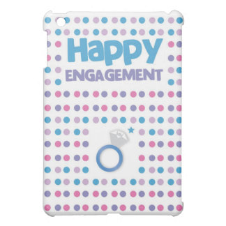 Spotty Happy Engagement greeting card Case For The iPad Mini
