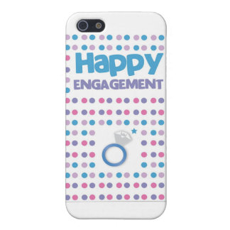 Spotty Happy Engagement greeting card Cover For iPhone SE/5/5s