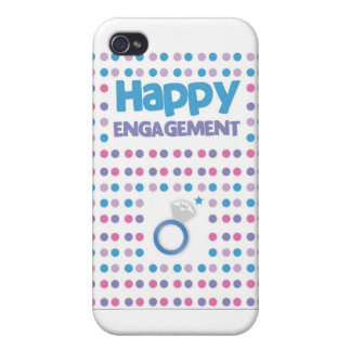 Spotty Happy Engagement greeting card iPhone 4 Case