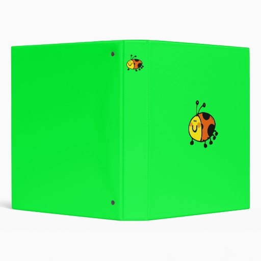 Spotty ladybug 3 ring binder