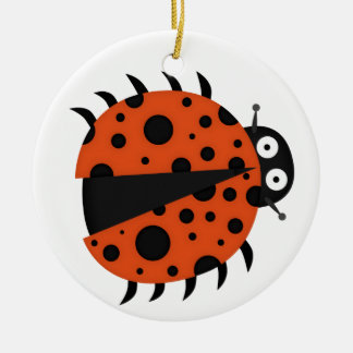 spotty ladybug ceramic ornament