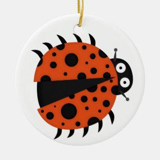 spotty ladybug christmas tree ornaments