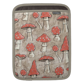 Spotty Red and White Fungi Pattern iPad Sleeve
