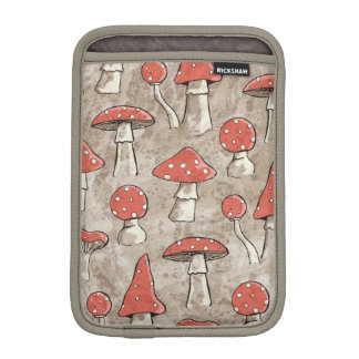 Spotty Red and White Fungi Pattern Sleeve For iPad Mini