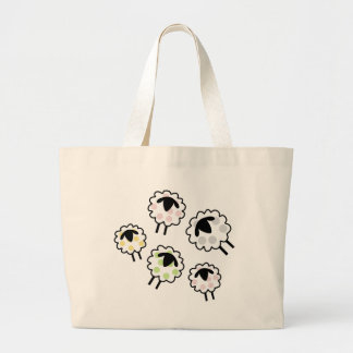 Spotty Sheep Large Tote Bag