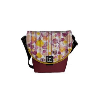 Spotty Striped White Pattern Messenger Bag