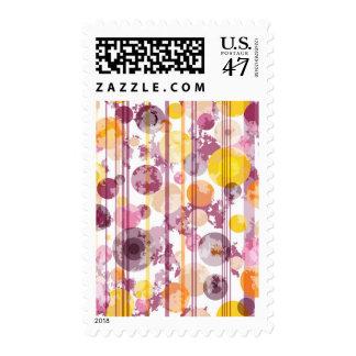 Spotty Striped White Pattern Postage