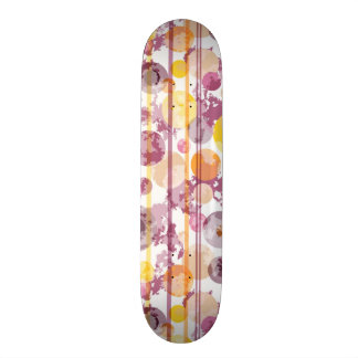 Spotty Striped White Pattern Skateboard Deck