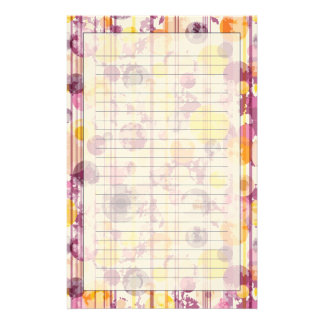 Spotty Striped White Pattern Stationery