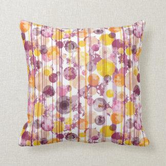 Spotty Striped White Pattern Throw Pillow