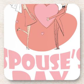 Spouse's Day - Appreciation Day Beverage Coaster
