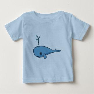 Spouting Cartoon Whale Baby T-Shirt