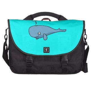 Spouting Cartoon Whale Bag For Laptop