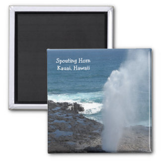 Spouting Horn in Kauai, Hawaii 2 Inch Square Magnet