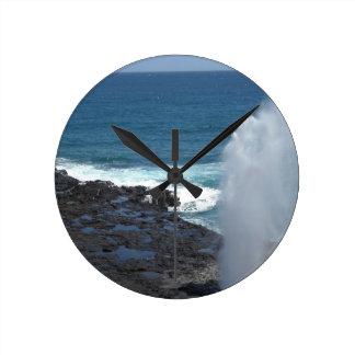 Spouting Horn Kauai, Hawaii Round Clock