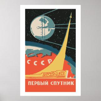 Spoutnik CCCP Posters