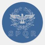 SPQR el pegatina del emblema del imperio romano