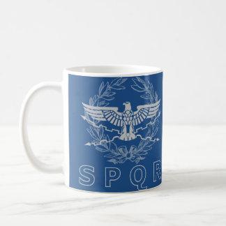 SPQR la taza del emblema del imperio romano