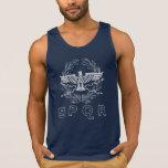 SPQR las camisetas sin mangas del emblema del